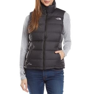 North Face Women's Black Nuptse Vest Sz M